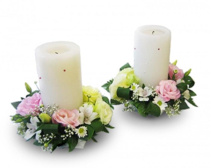 Как оформить свечи на новый гЦветок из