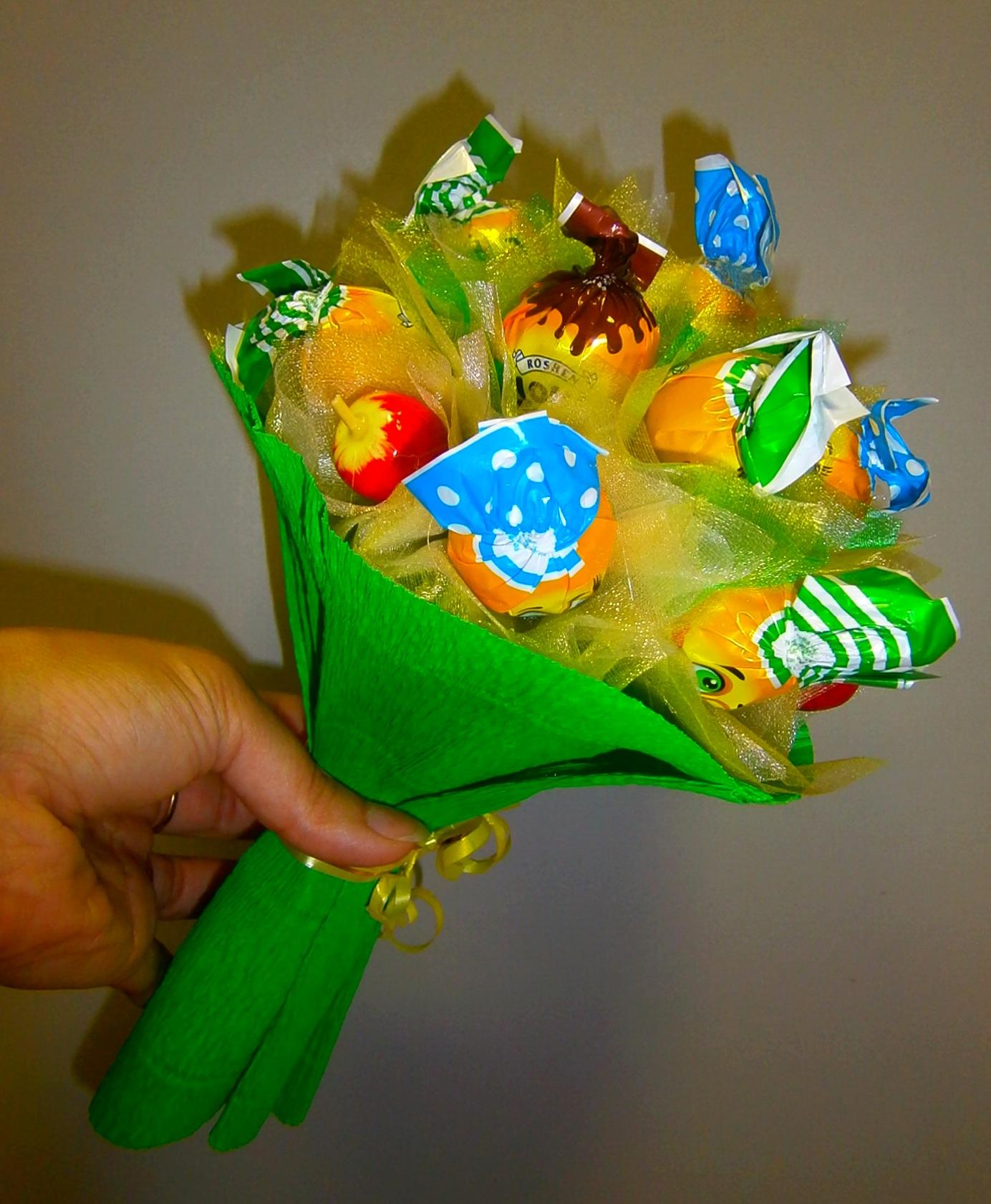 Подарочный букеты для детям своими руками, цветов